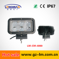 High Quality 60 Watt aluminum car light 4000LM 12v/24v Offroad Auto 60w Led Working Light For Car