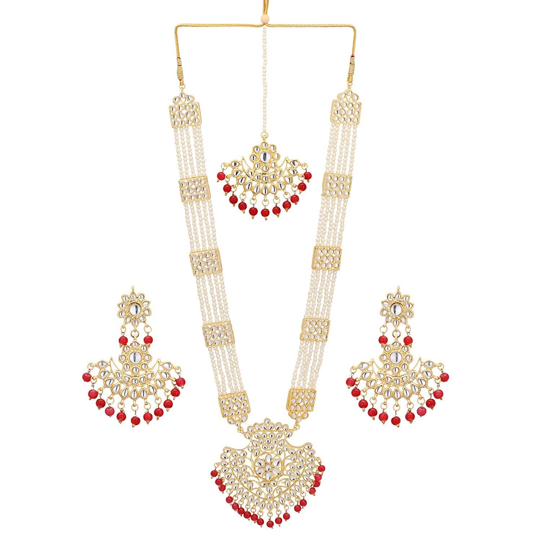 6e357c0fe0e87 Buy Jwellmart Indian Traditional Gold Plated Kundan Faux Pearl Rani ...