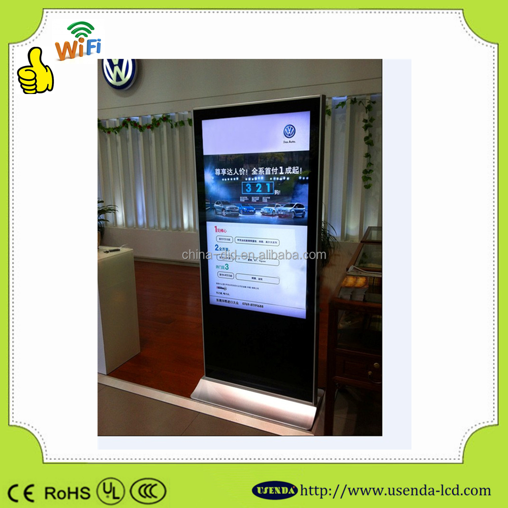 46inch with Phone Style Media Player touch screen player wifi network lcd advertising screen table type all in one pc