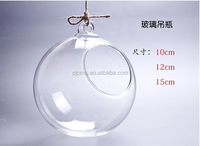 wholesale hanging glass ball vase for home decoration