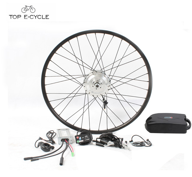 TOP 36V 250W hub motor10ah lithium battery ebike kit with LED Display