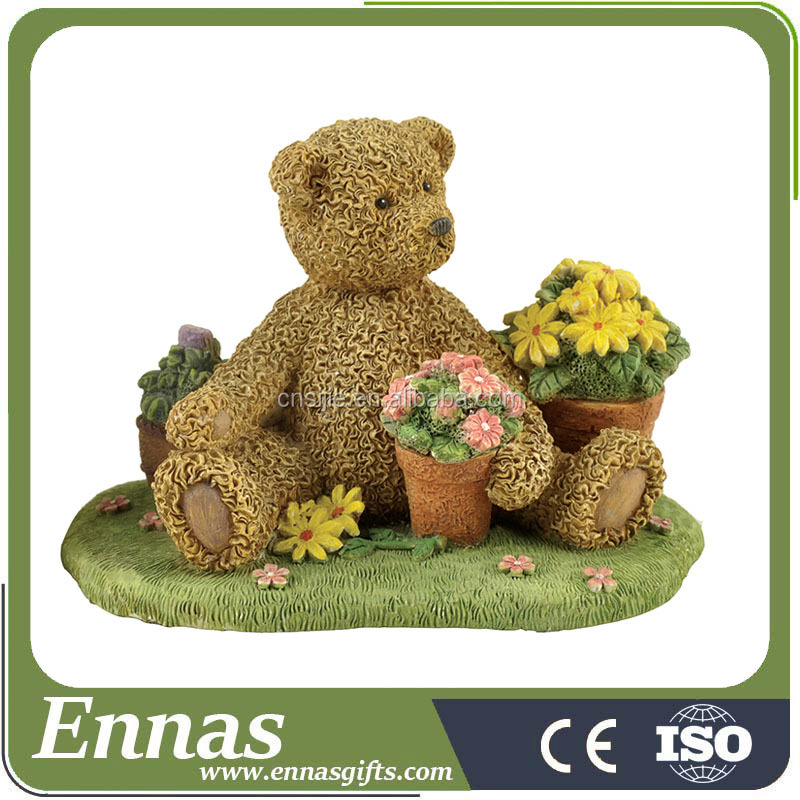 Polyresin Decorative Garden Bear Crafts