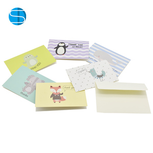 High Quality Handmade Lovely Animal Printing Greeting Card With Envelope