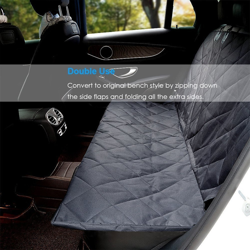 Lovoyager soft foldable cotton pet hammock large dog car seat cover