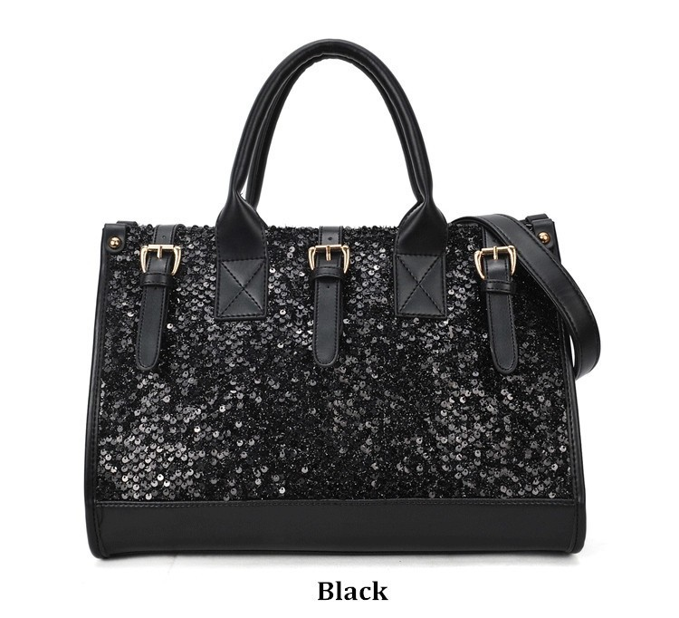 Get Quotations · Bling Sequins Handbag 2015 Women Dinner Handbag Messenger  Party Women Famous Brands Women Shoulder Black Sequins 2414b8aa0c79f