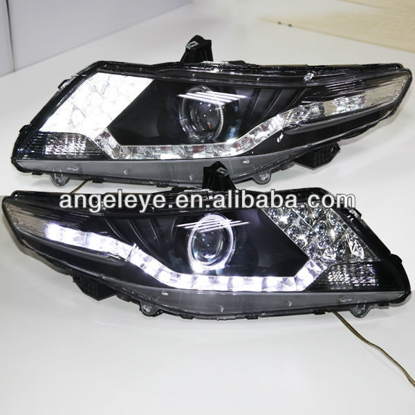 For Honda City Led Head Lamp Angel Eyes 2008 To 2012 Year