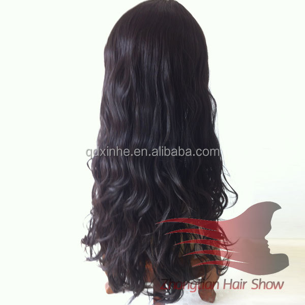 22inch Wave Mongolian Unprocessed Virgin Hair Human Hair Natural Scalp Wig Jewish Kosher Wigs