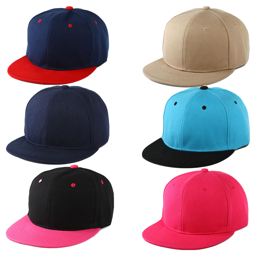 New fitted baseball caps flat brim plain snapback hat bboy fashion customized sport caps and hats