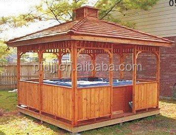 de madera mirador hidromasaje montaje manual jardn al aire libre gazebo