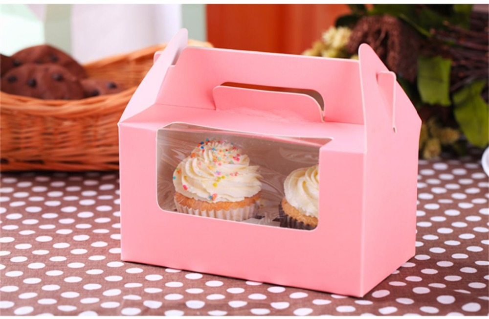 donuts paper box fancy paper cake box with clear PVC window