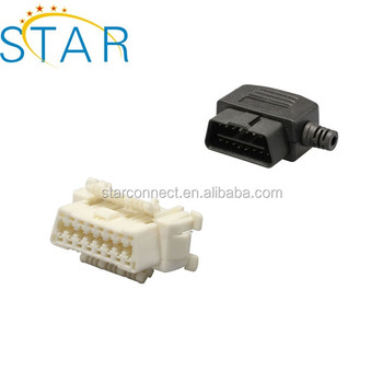 Factory Obd1 To Obd2 Obd 2 Connector 16pin Female Extension Cable