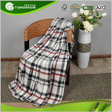 Morden design Oeko-Tex certified wearable adult plaid blanket