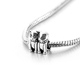 LYB03417 beads for jewelry making cute animal charms sterling silver cat pendant