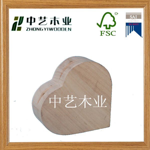 2015 hot sell magnetic board heart shaped natural wood travel soap case