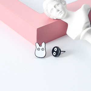 Harajuku Japan Anime women enamel Cat Totoro earings jewelry punk animal totoro ear stud piercing earrings brincos bijoux