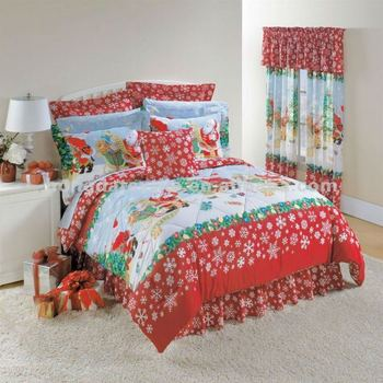 100% Cotton Printed Christmas Bed Sheet - Buy Christmas Bed Sheet ...