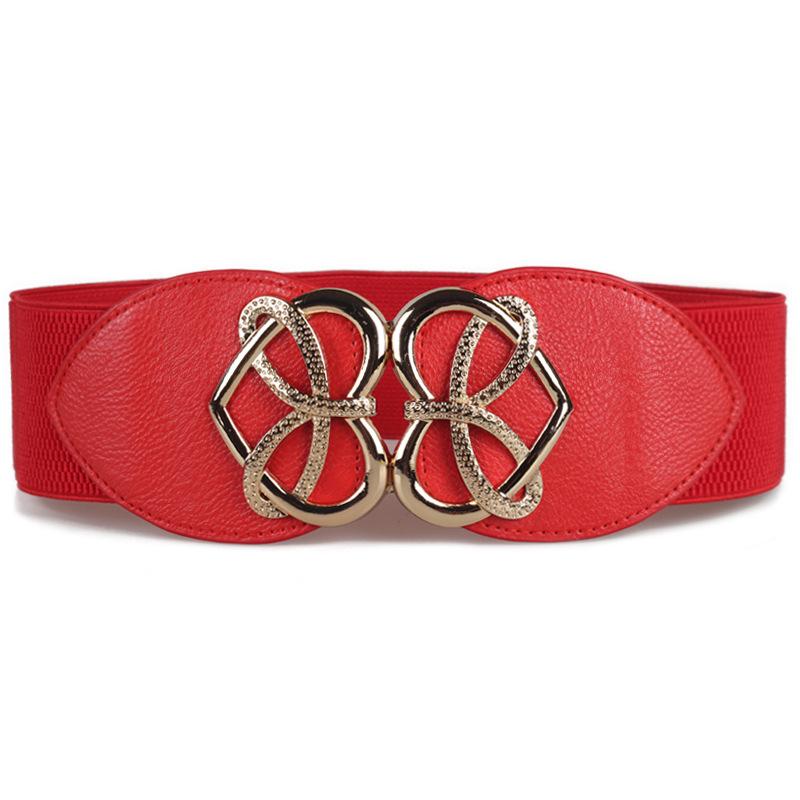2018 Women's Fashion Retro Decorative Wild Elastic Belt Wide Elastic Belt