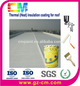 Heat resistant paint spraying on the roof