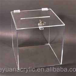 Clear Acrylic Raffle Ticket Drum, Acrylic Lucky Draw Box, Acrylic Lottery Draw Display