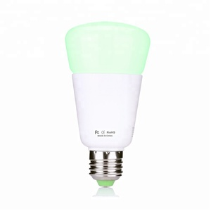 Wireless control dimmable E27 RGB CCT RGBW 9W ZigBee LED light bulb compatible with Alexa philipsHue