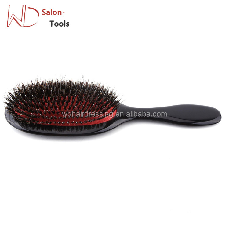 Boar Bristle & Nylon Hair Comb Mini ABS Handle Anti-static Oval Hair Scalp Massage Comb Hairbrush Salon Hair Brush Styling Tool