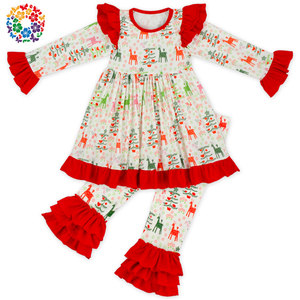 Hot Sale Baby Clothes Gift Set Girls Christmas Boutique Outfits Wholesale Baby Holiday Costume Children Clothing Manufacturer