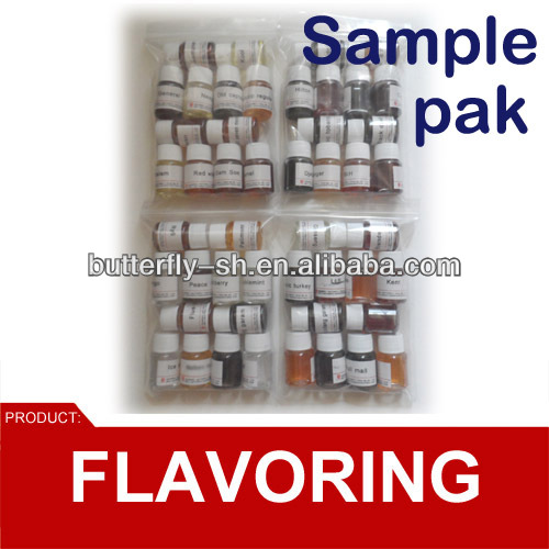 liquid flavouring concentrate sample