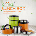 Colorful hight qulity thermal food container stainless steel vacuum lunch box/cooking pot