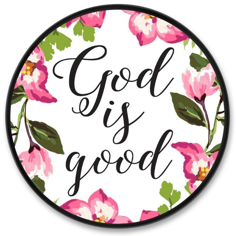 Multi-Function Phone Holder - Expanding Stand and Grip for iPhone X 8 and Tablets - Pop Mounts Socket Expanding Cell Phone Holder Stand -God is good Flower