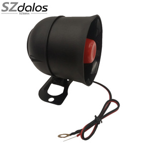 15W/20W/25W Universal Car Auto Vehicle car Alarm Warning Siren Horn 12V DC Black 6 tones 1 tones car alarm built in battery