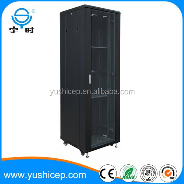 Telecom indoor 19 inch floor standing network server rack cabinet