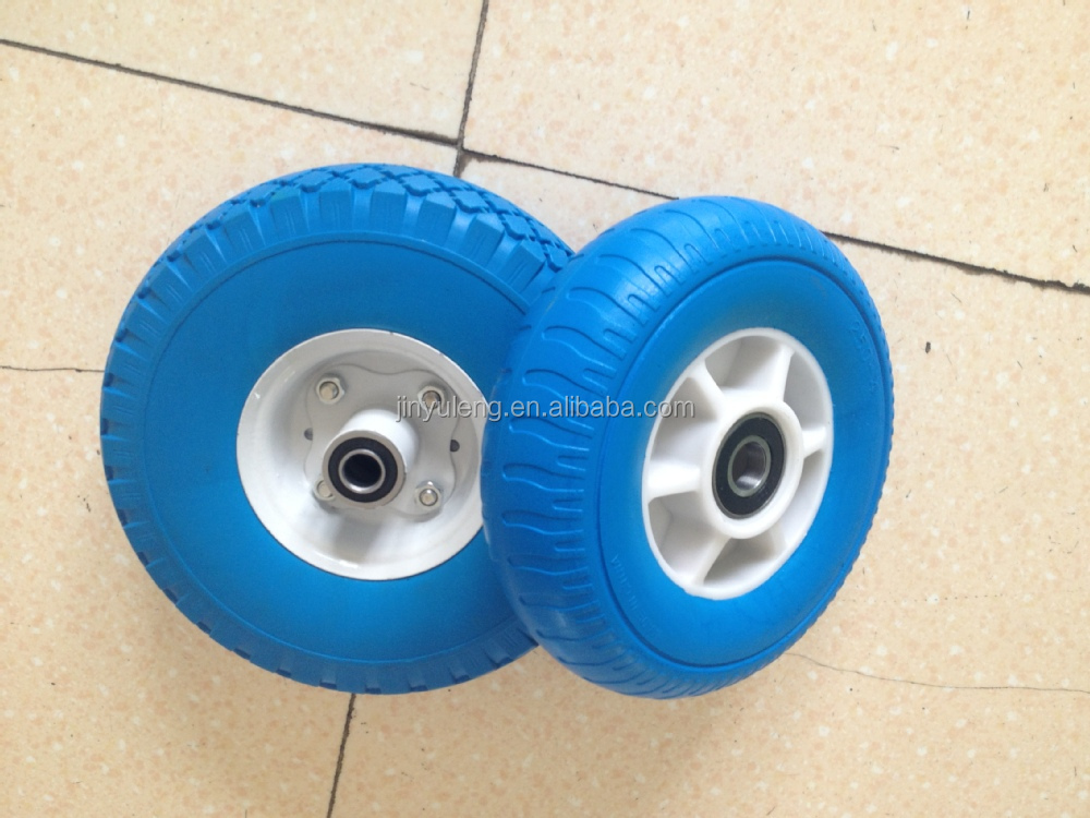 8 inch Plastic rim high quality pu foam solid wheel for trolley castor dolly hand truck wheelbarrow Japan, South Korea market