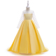 Wholesale Smock Baby Wear Party Frock Big Girl Birthday Wedding Party Long Maxi Dress LP-204