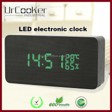 Hot Selling Wooden LED Smart Modern Digital Electronic Table Alarm Clock