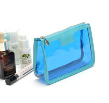 Waterproof pvc clear ladies small cosmetic bag makeup pouch