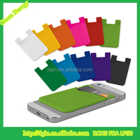 Colorful Logo Print Custom Silicone Keychain Credit Card Holder Wallet