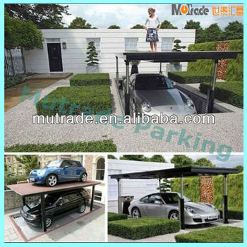Garage, Beautify Home Yard With Futuristic Car Lift That Installed In Underground  Garage Concept 10