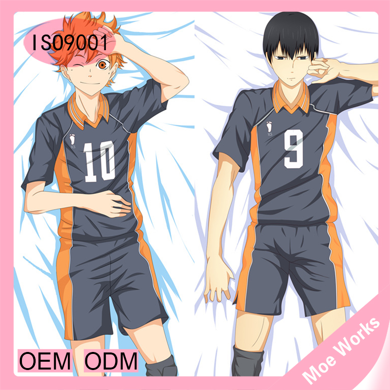Japanese Comic Male Haikyu Pillow Cover Oikawa Tooru Hugging Body Pillow Case Hinata Syouyou Pillow