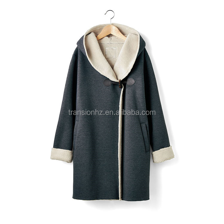 Coat ladies Hood Autumn And Lining Jacket With Long Jacket Hood Sherpa ladies Buy Winter Fleece Ladies Jacketcoat rBWCoedx