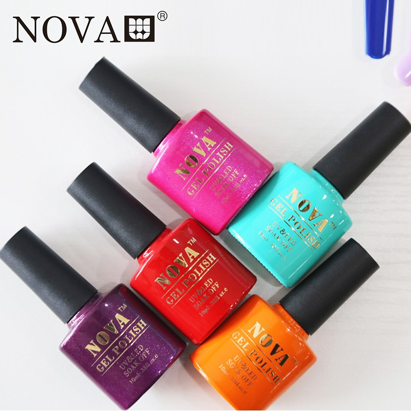 NOVA nail gel polish 12pcs soak off 160 colors gel lacquer UV LED Long lasting Top