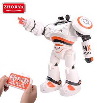 Zhorya RC Dancing Shooting Robot Toy Intelligent with Light and Sound