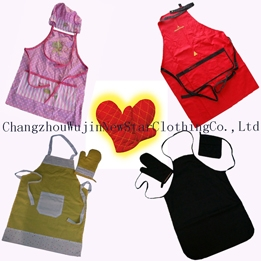 Kitchen Set Waterproof Chef Hats And Heat-resistant Oven Gloves ...