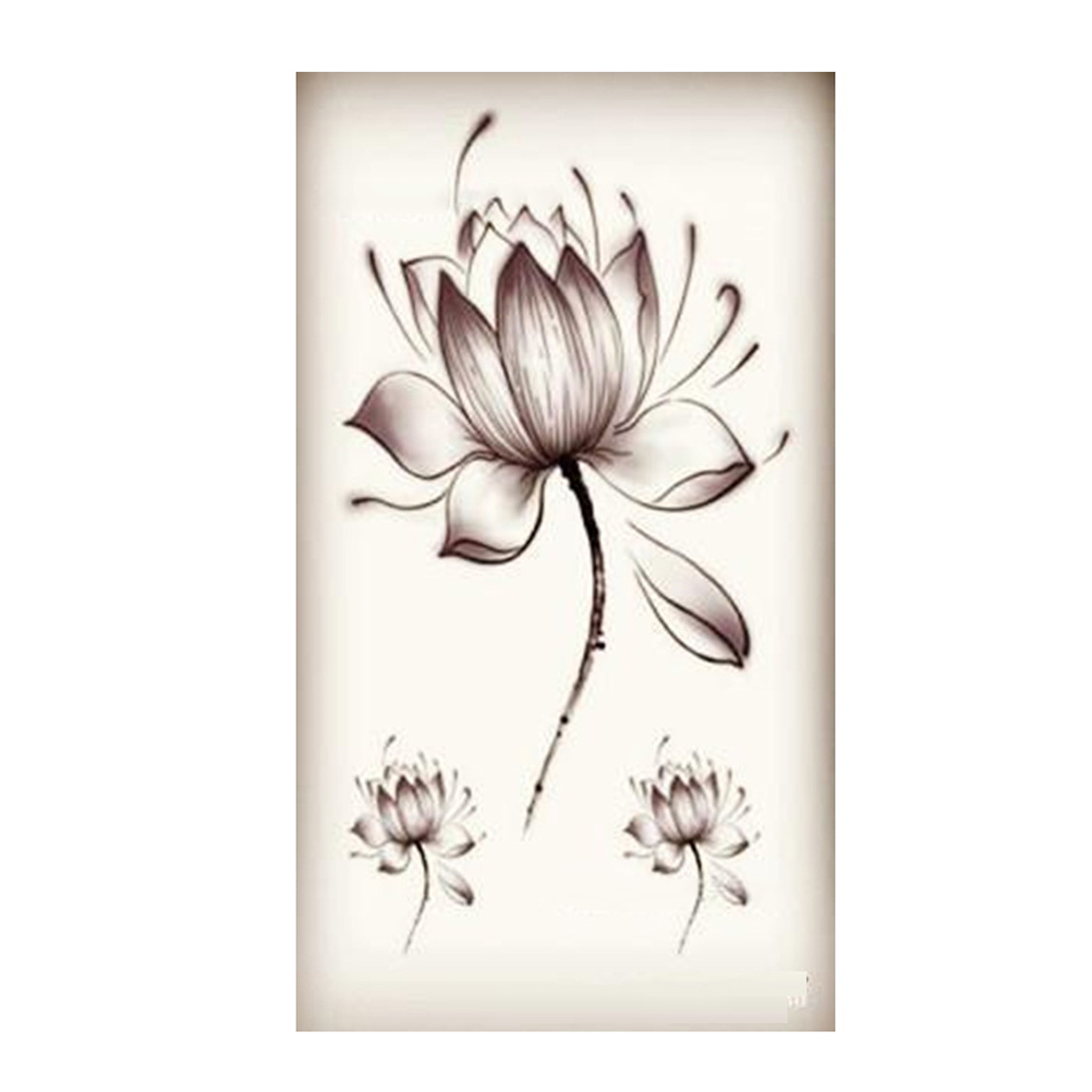 Acheter Autocollants De Fleurs De Lotus Impermeables Noirs Femmes