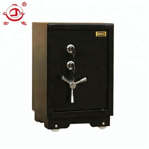 Sentry black metal anti-fire two key safe box eagle crown safes