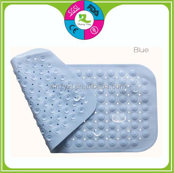 Customized Colorful Anti Slip Pvc Silicone Rubber Bath Mat