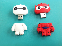 promotional cute catoon rubber USB flash drive. USB flash drive wholesale