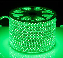 Green color 14.4W waterproof SMD5050 led strip light CE ROSH AC110V 220V ourdoor IP65
