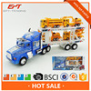 Plastic super friction car transport tower truck toy