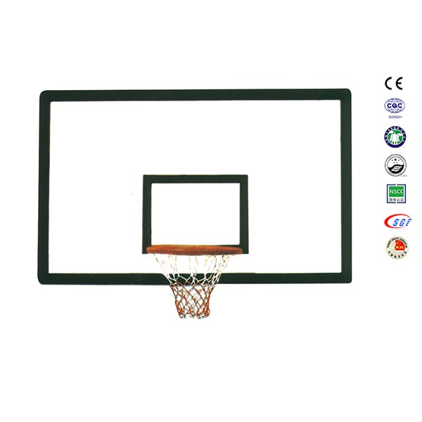 Hottest fiberglass basketball board part of basket ball hoop pole and base