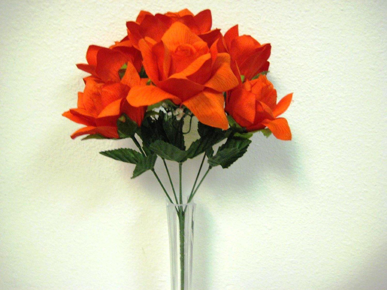 Cheap miniature rose bushes find miniature rose bushes deals on get quotations 3 bushes orange open rose 6 artificial silk flower 13 bouquet 590or mightylinksfo